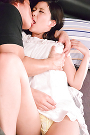 Risa Shimizu - Appealing Risa Shimizu plays with cock in sexy POV  - Picture 1