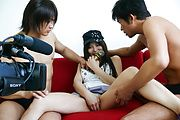 Karen Natsuhara gets a creampie in an asian gangbang Photo 10