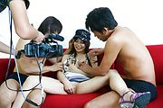 Karen Natsuhara gets a creampie in an asian gangbang Photo 11