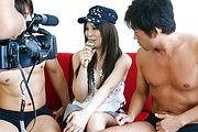 Karen Natsuhara gets a creampie in an asian gangbang Photo 8