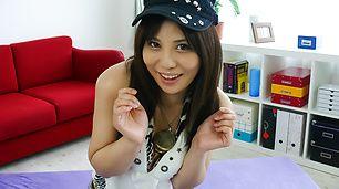 Asian Karen Natsuhara enjoying two cocks