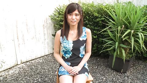 Ema Kato - Amateur teen sucks cock in outdoor on cam - Picture 1