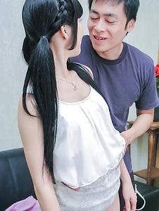 Nako Nishino-Nako Nishino fabulous Asian blow job and handjob  Picture 1