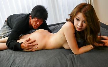 Busty MILF Arisa Kuroki gives asian blowjobs and rides cock