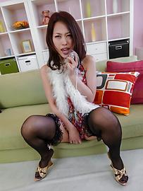 An Yabuki - An Yabuki熟女亞洲業餘用絲襪 - 圖片12
