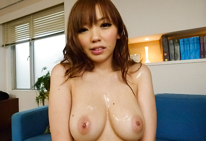 Big asian tits on Megu Kamijo get jizzed on
