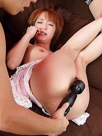 Sana Anzyu - Sana Anzyu gives an asian blowjob and fucks a group of guys - Picture 8