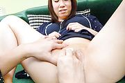 Asian amateur brunette goes nasty on two fat cocks  Photo 9