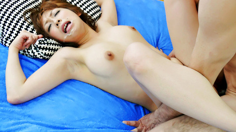 Busty Saki Asaoka Asian squirting during toy sex