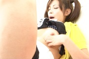 Yurika Gotou plays with her hairy Asian pussy on cam  Photo 7