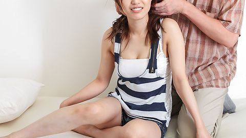 Kaede Kyomoto - Kaede Kyomoto gets him to fuck her after a japanese blowjob - Picture 3