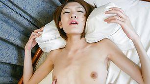Hinata Hyuga's hairy asian vagina drips a creampie