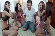Asian amateur girls having rough sex in group adventure Photo 5