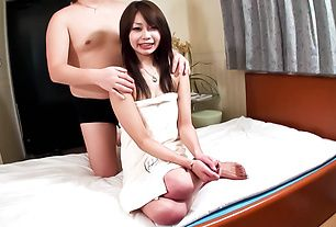 Asian amateur babe delights with cock until exhaustion