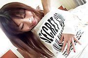 Asari Shirahama's hairy asian pussy fucked in POV Photo 3
