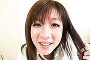 Barely Legal Schoolgirl Mao Miyazaki's Furry Slit Banged Photo 1