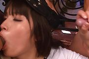 Hinata Tachibana has asian blowjobs for two guys Photo 6