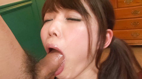 Megumi Shino - Megumi Shino sucking three guys in asian blowjobs porn - Picture 5