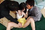 Hot Anal Creaming After Megumi Shino's DP Sex Photo 9