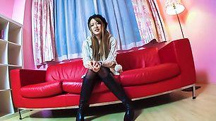 XXX Japanese porn trio with slim Mai Shirosaki