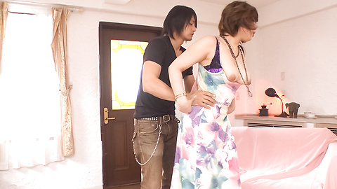 Ririsu Ayaka - ririsu Ayaka ให้ blowjob และร่วมเพศเอเชียร้อนหนัก -  7 รูปภาพ