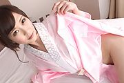 Kotone Amamiya - Cock sucking Asian girl caught on cam during group sex - Picture 1