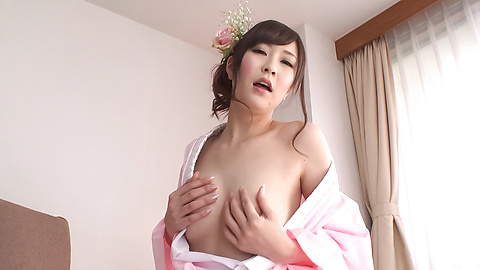 Kotone Amamiya - Cock sucking Asian girl caught on cam during group sex - Picture 8