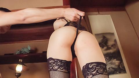 Yui Uehara - Girl in hot lingerie endures Japanese dildo on cam - Picture 5