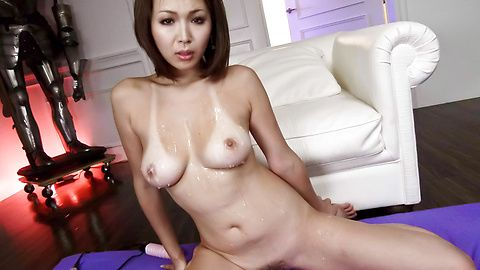Hot Asian milf throats cock until exhaustion