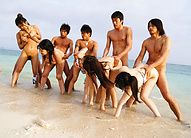 Sexy Curvy Teens Get Guys To Have An Orgy At The Beach