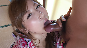 Reira Aisaki super hot Asian blowjob in perfect POV