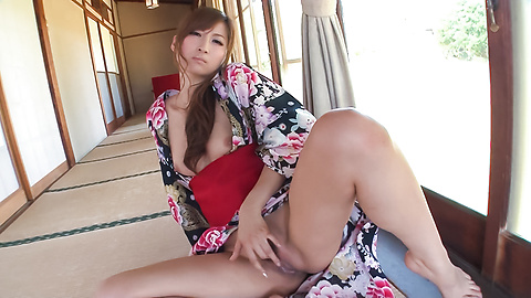 Reira Aisaki - Asian girl sucking cock in sloppy manners  - Picture 11