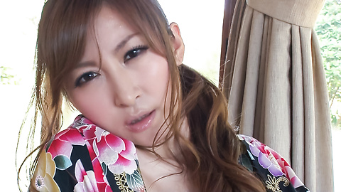 Reira Aisaki - Asian girl sucking cock in sloppy manners  - Picture 7