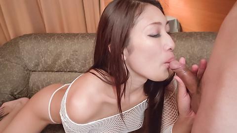 Reiko Kobayakawa - Japan blowjob on two dicks withReiko Kobayakawa - Picture 5