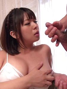 Wakaba Onoue - Asian cum for cock sucking brunetteWakaba Onoue - Screenshot 8