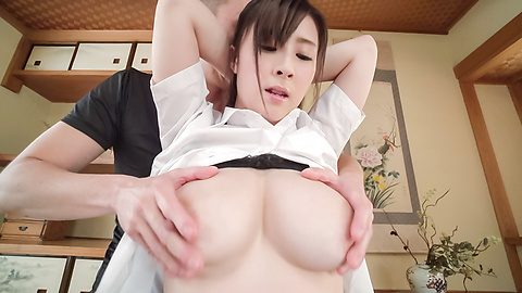 Mitsuki Akai - Asian with big dildo enjoying facial ending  - Picture 1