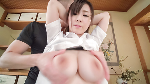 Mitsuki Akai - Asian with big dildo enjoying facial ending  - Picture 2