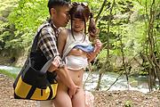 Sexy Japanese outdoor porn play with Maya Kawamura Photo 7