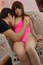 Chisa Hoshino - Tight Chisa Hoshino fucked in both her shaved holes  - Picture 1