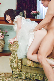 Airi Miyazaki - Bride to be enjoys one last hardcore fuck  - Picture 2