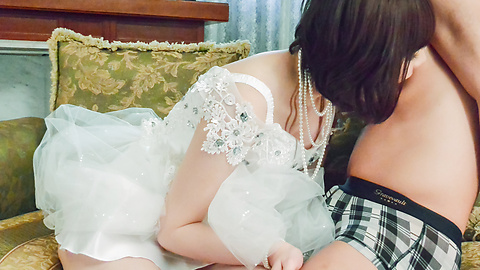 Airi Miyazaki - Bride to be enjoys one last hardcore fuck  - Picture 7