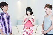 Brunette Japanese babe Asan gangbang on cam Photo 1