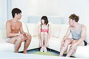 Brunette Japanese babe Asan gangbang on cam Photo 2