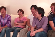 Brunette Japanese babe Asan gangbang on cam Photo 2