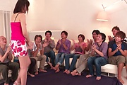 Brunette Japanese babe Asan gangbang on cam Photo 3