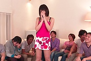 Brunette Japanese babe Asan gangbang on cam Photo 4