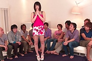 Brunette Japanese babe Asan gangbang on cam Photo 8