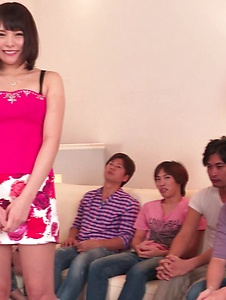 Mihono - Staggering Asian blow jobs on a group of cock by Mihono - Screenshot 11