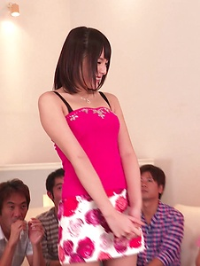 Mihono - Staggering Asian blow jobs on a group of cock by Mihono - Screenshot 6