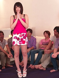 Mihono - Staggering Asian blow jobs on a group of cock by Mihono - Screenshot 8